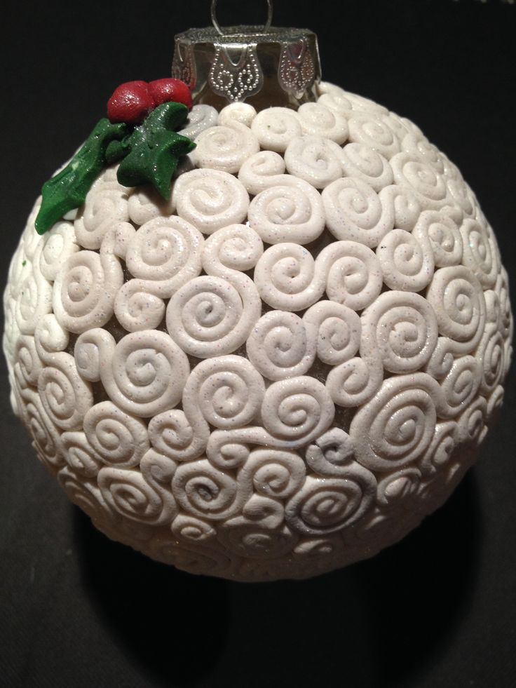 Tree ornament with polymer clay