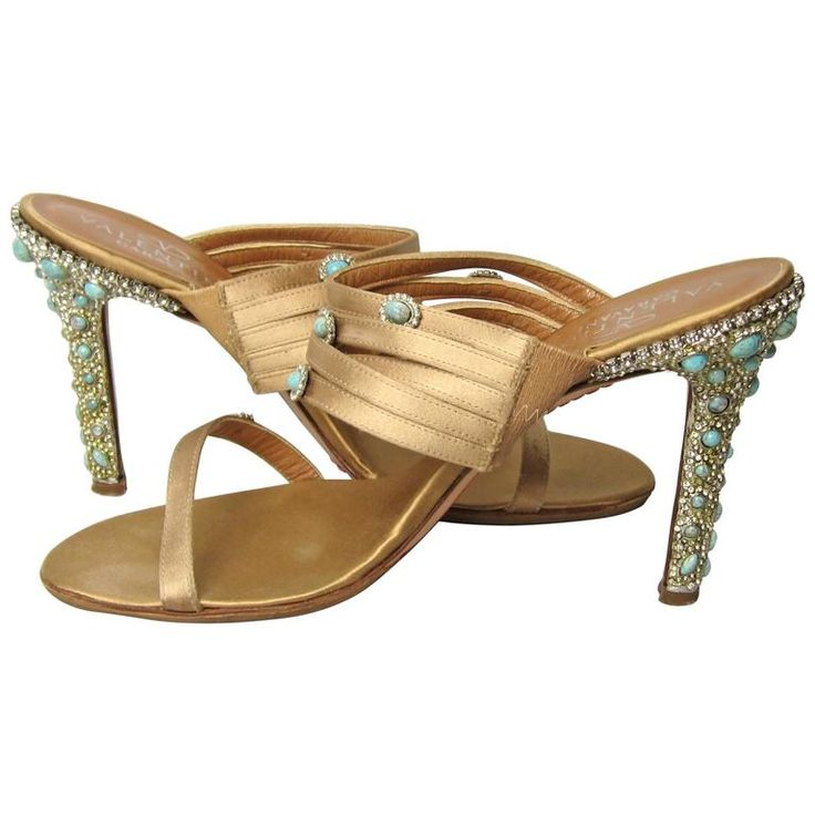 Valentino Garavani Shoes | Valentino GARAVANI Turquoise Swarovski crystal studded Shoe For Sale ...