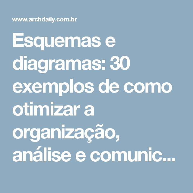 Esquemas e diagramas: 30 exemplos de como otimizar a organização, análise e comunicação do projeto   ArchDaily Brasil