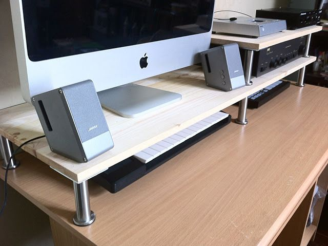 more space on a computer desk ikea hackers clever ideas and hacks for your ikea ikeamania pinterest ikea hackers desks and ikea hack - Ikea Computer Desk Ideas
