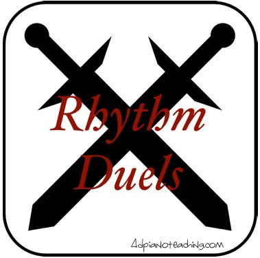 Quick, exciting rhythm game - for 2 or more students so use at your next group class or between 2 lessons!