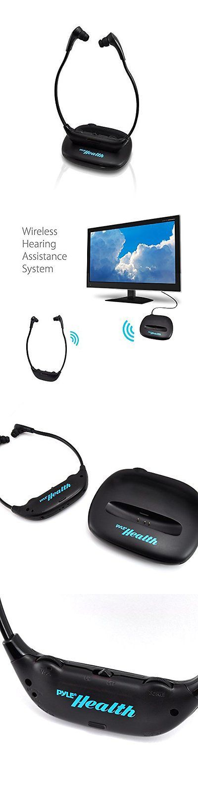 Mini Plug-in Microphones: Pyle Health Phpha56 Wireless Tv Headset Headphone System And Hearing New BUY IT NOW ONLY: $98.59