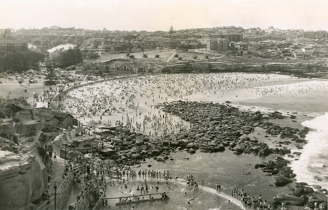 Bronte Beach, Late 1930's Sydney by State Records NSW, via Flickr
