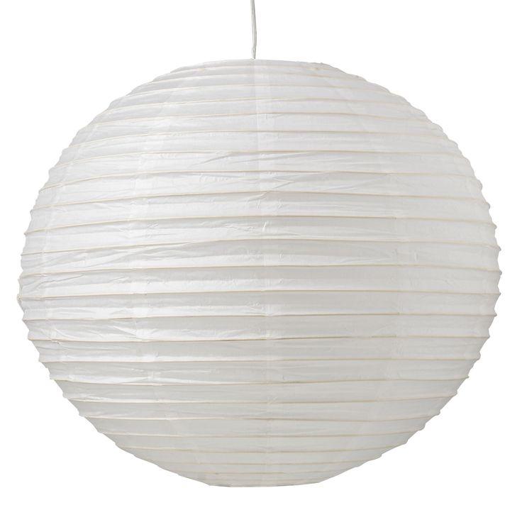 Suspension boule 60cm Blanc - Izu - Les suspensions et lustres - Le luminaire - Chambre - Décoration d'intérieur - Alinéa