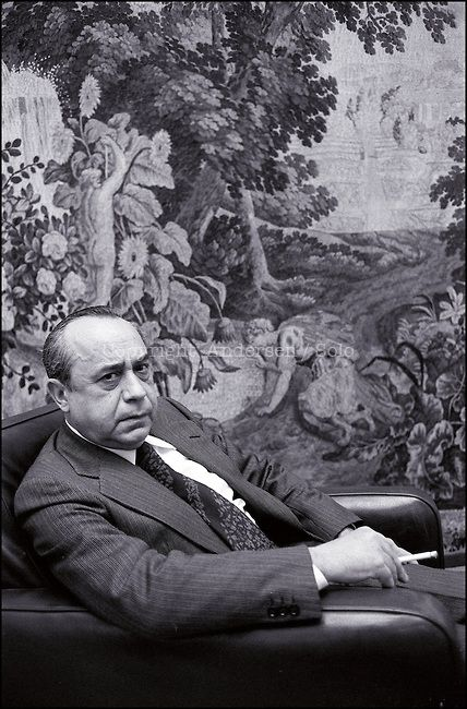 Leonardo Sciascia (1921-1989) - Italian writer, novelist, essayist, playwright and politician. Photo by Ulf Andersen, Paris, 1978.