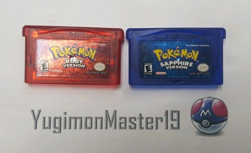 Pokemon Ruby and Sapphire Version for Nintendo GBA with New Batteries Installed: $49.95 End Date: Tuesday Mar-20-2018 22:17:22 PDT Buy It…