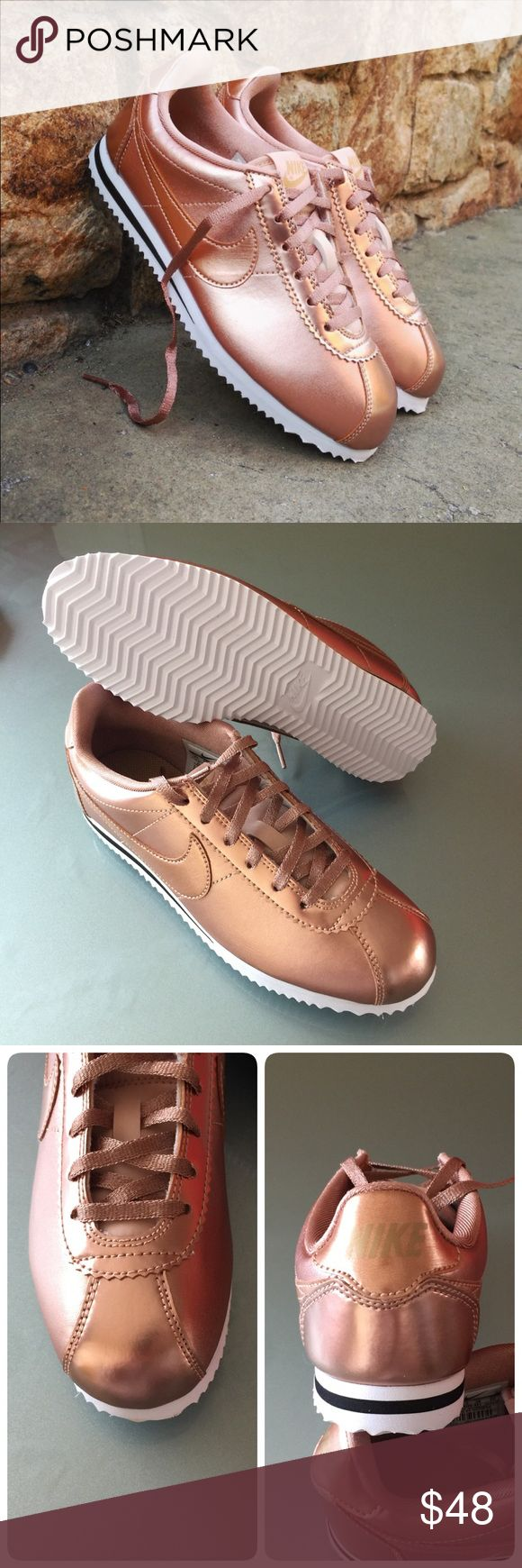 New NIKE rose gold Cortez SE GS~various sizes brand new no lid various sizes metallic red bronze comes from smoke free home  100% authentic Nike Shoes Sneakers
