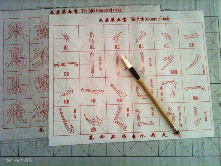 Chinese Calligraphy Set For Kids Chinese Pinterest