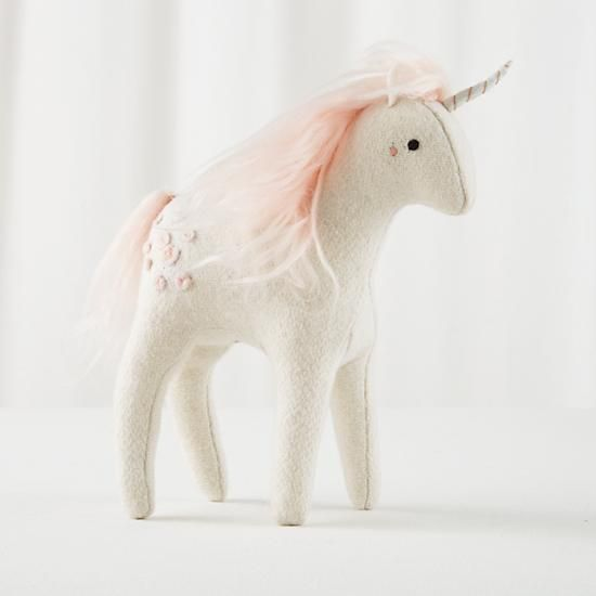 Mythical Edition Plush Unicorn (White) in Dolls & Stuffed Animals | The Land of Nod