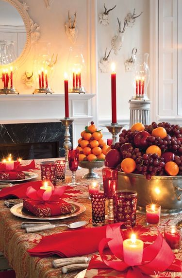 Candlelight Dining -- Note the orange topiary