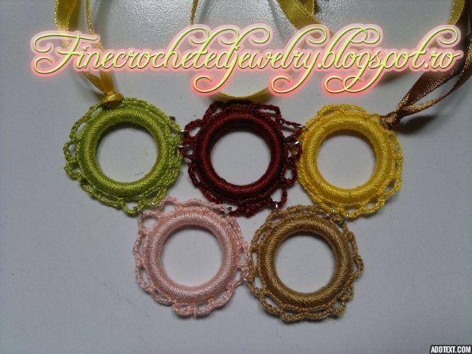 Crochet autumn necklace http://www.finecrochetedjewelry.blogspot.ro/
