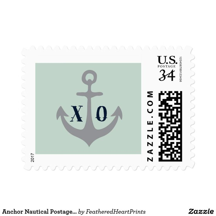 Anchor Nautical Postage Stamp