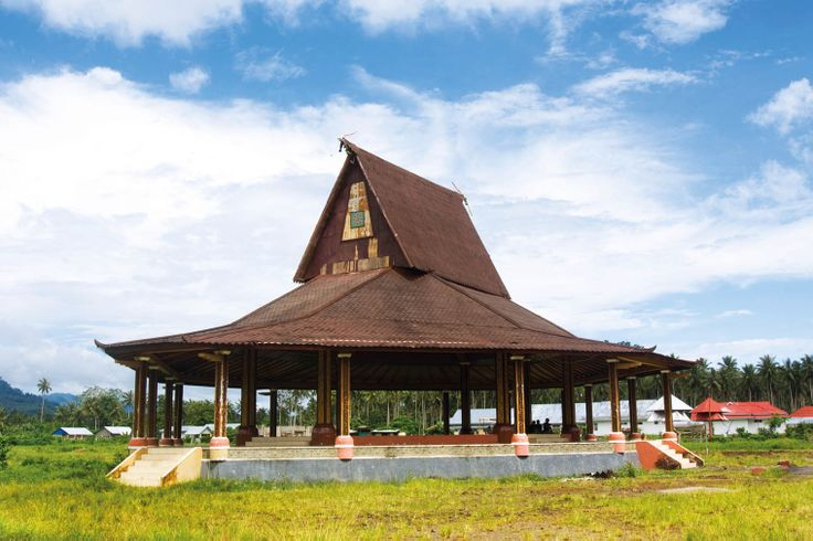 Sasadu, the traditional house of the Sahu tribe, an ancient indigenous tribe residing on the islands of Halmahera.
