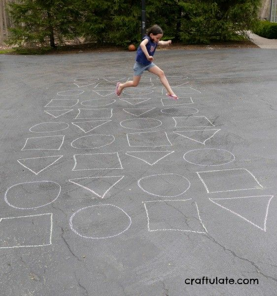 Chalk Shapes Jumping Game