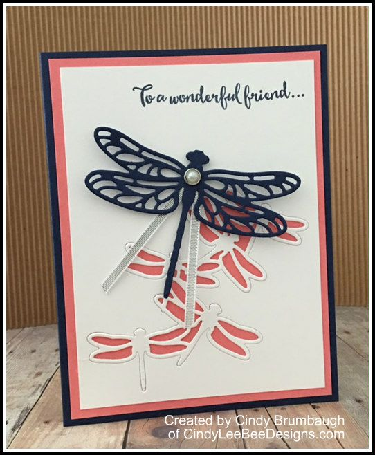 December 23, 2016 Just buzzing by amid the holiday frenzy to share a fun card we made at my December Downline meeting using the NEW Dragonfly Dreams Bundle coming out on January 4th. *Local gals- w…