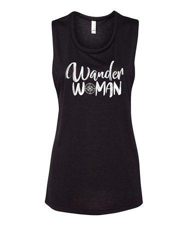 Black 'Wander Woman' Tank #zulily #zulilyfinds