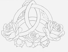 Celtic Triquetra Rose by AngelMae423