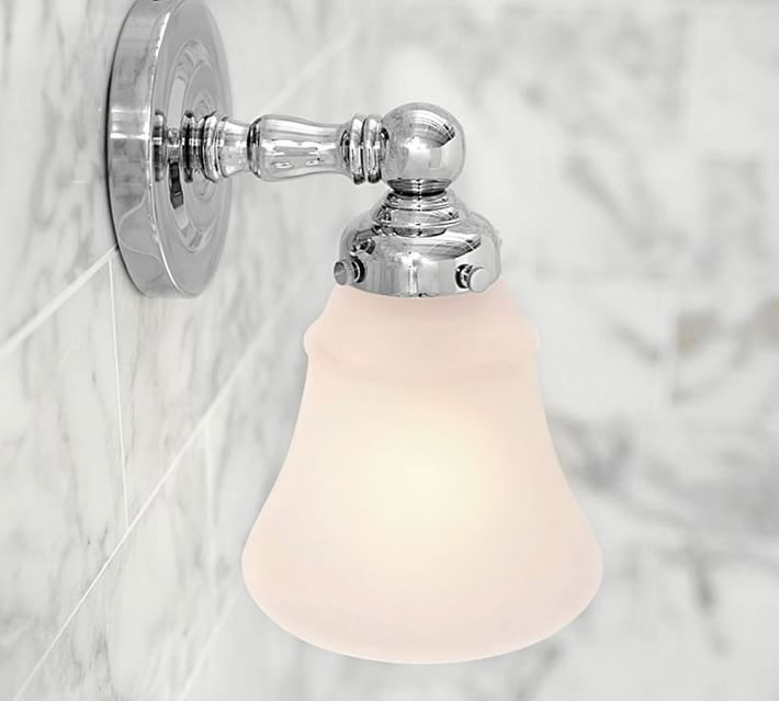 Sussex Single Sconce | Pottery Barn | Furnishing Frugally | Look For Less | Apothecary Bathroom