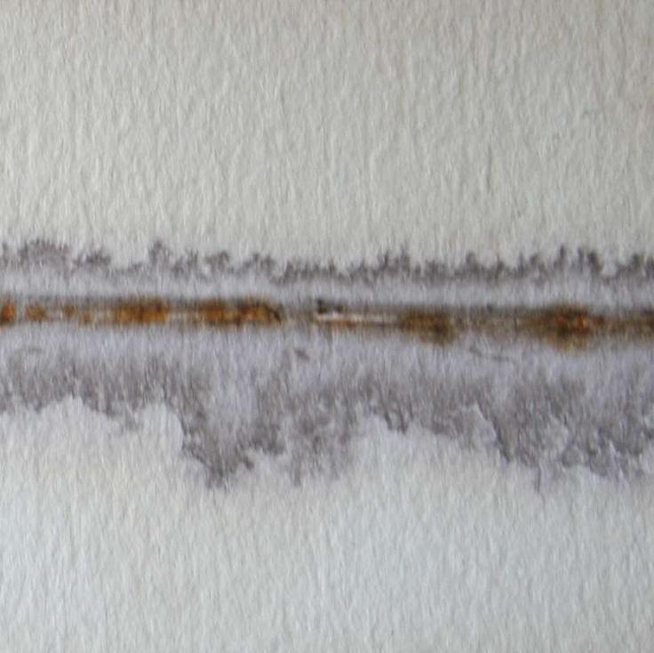 paper, tea, rust print by Alice Fox