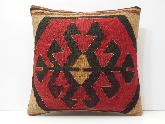 outdoor pillow 20x20 bohemian pillow cover red kilim pillow sofa throw pillow decolic large sofa pillow