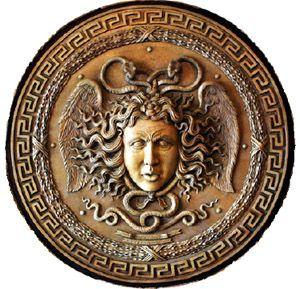 Athena 39 s shield with Medusa head Athena Pinterest