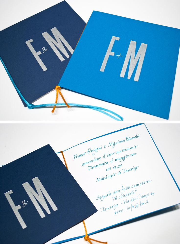 Inviti per matrimonio stampati in letterpress con testo in calligrafia   http://www.y-k.it