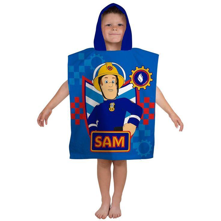 Fireman Sam Workshop Hooded Beach Bath Towel. Available at Kids Mega Mart online shop Australia www.kidsmegamart.com.au