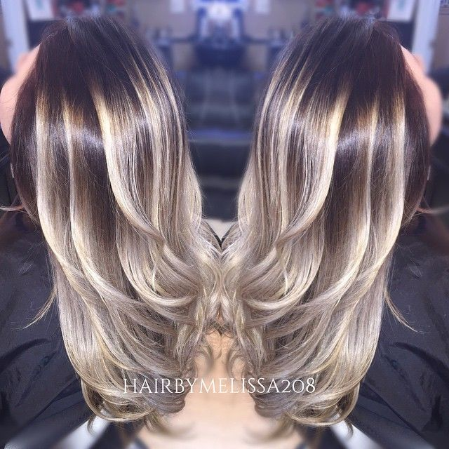 Beautiful ombre blonde color melt by Melissa. Balayage. fb.com/hotbeautymagazine