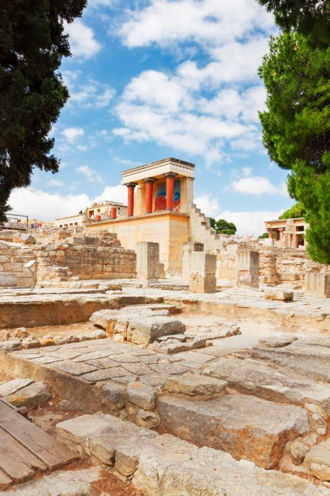 The Minoan Palace of #Knossos, #Crete, #Greece