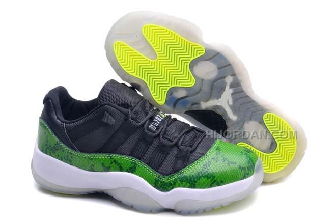 innovative design a971a 7e336 ... green black 04b33 0066d  low price air jordan 11 low gs quotgreen  snakeskinquot female retro 2014 sneaker 9de70 eae46