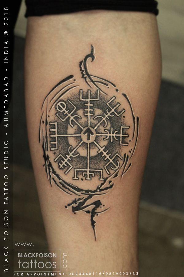 Norse Compass Tattoo : norse, compass, tattoo, Viking, Compass, Vegvisir, Tattoo, #vegvisirtattoo, #vikingtattoo, #vikingcompasstattoo, #vikingcompass, #tatto…, Symbol,, Tattoo,