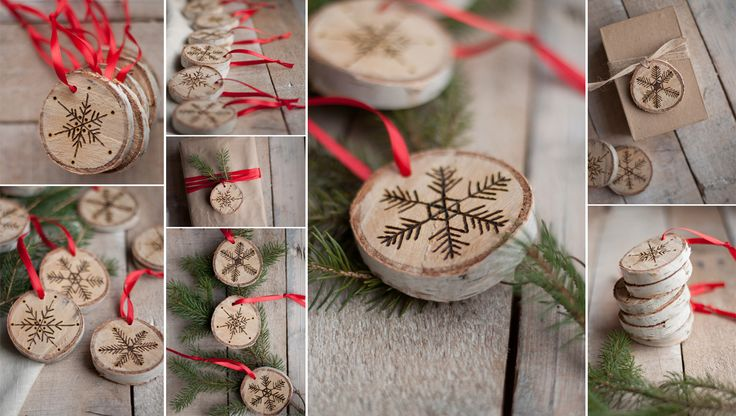 The Perfect Gift. Etched Snowflake Ornaments in Birch [DIY]