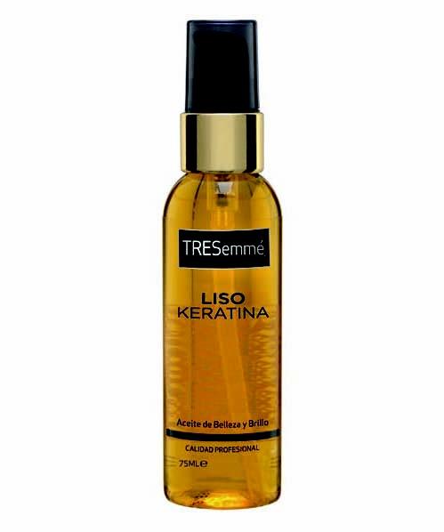 #TRESemme Aceite Liso Keratina - Contiene #aceite de argán para nutrir y dar un brillo espectacular al #cabello.