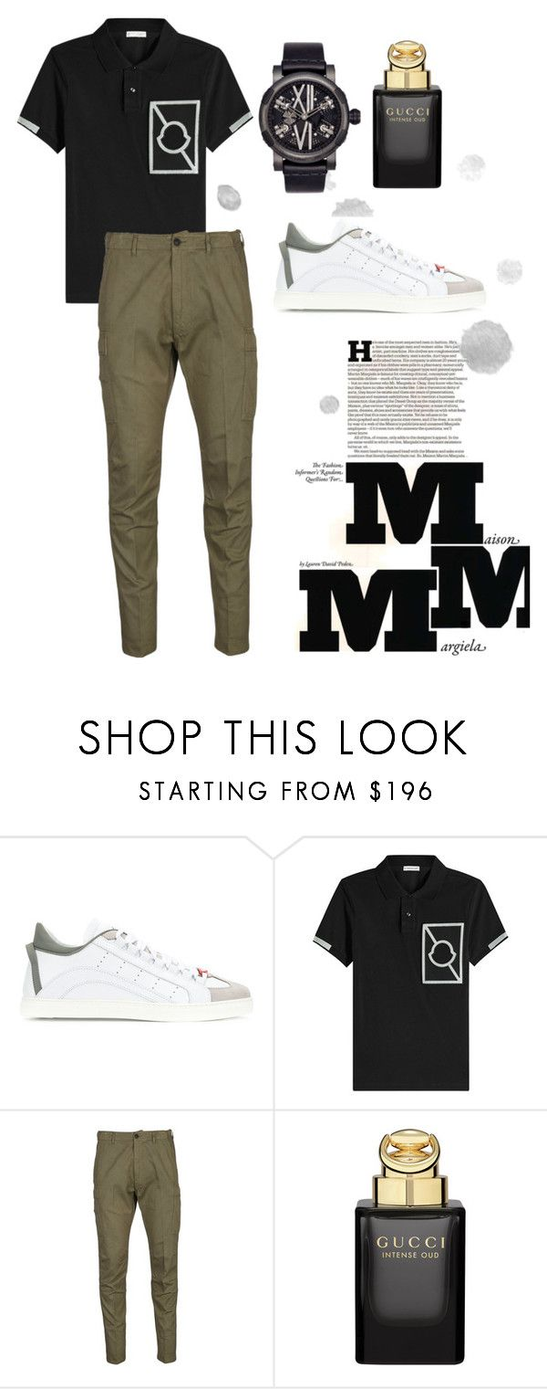 """Casual"" by pitaa29 on Polyvore featuring Dsquared2, Moncler, Tom Ford, Gucci, Romain Jerome, Maison Margiela, men's fashion and menswear"