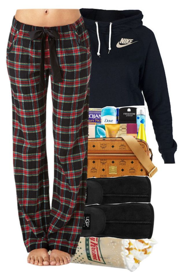 """Lazy Outfit For School"" by swagger-on-point-747 ❤ liked on Polyvore featuring NIKE, UGG Australia and Forever 21"