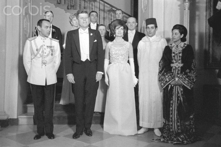 Kennedy Dinner Party for King Hassan II  President and Mrs. Kennedy were hosts tonight at State dinner in honor of King Hassan II of Morocco at the White House. Mar 27 .1963