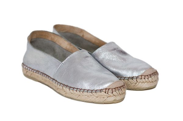 Espadrille, Metallic Silver - 7 day 20% discount online at www.elizabaker.co... with this code Nov13 ENDS 21st November 2013. love flat shoes.