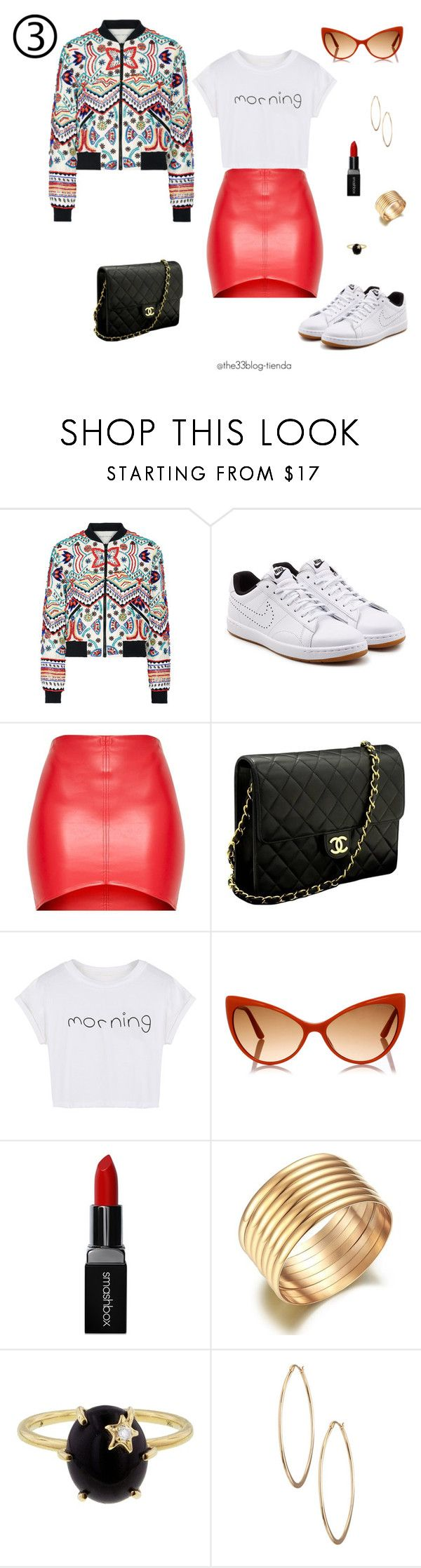 """""""bomber jacket 6"""" by jeniffercrystel on Polyvore featuring moda, Alice + Olivia, NIKE, Chanel, WithChic, Tom Ford, Smashbox, Andrea Fohrman y Lydell NYC"""