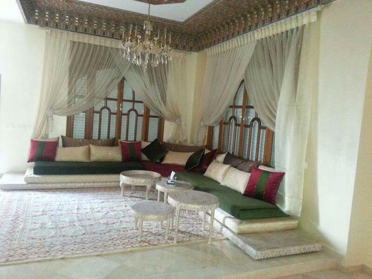 Salon marocain morocco pinterest salons marocains for Salon oriental chic