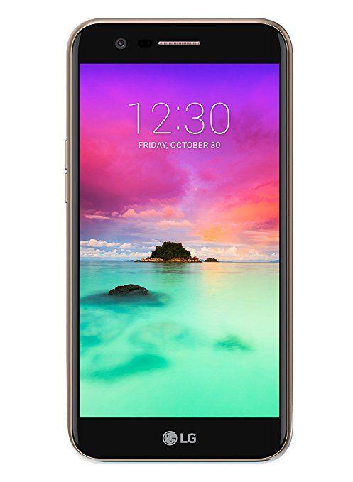 LG K10 2017 Smartphone 4G LTE, Schermo HD da 5.3 pollici, Fotocamera da 13 MP, Processore Octa Core da 1.5 GHz, 2 GB di RAM, 16 GB di Memoria Interna espandibile fino a 64 GB, 2800 mAh di Batteria, Oro [Italia]