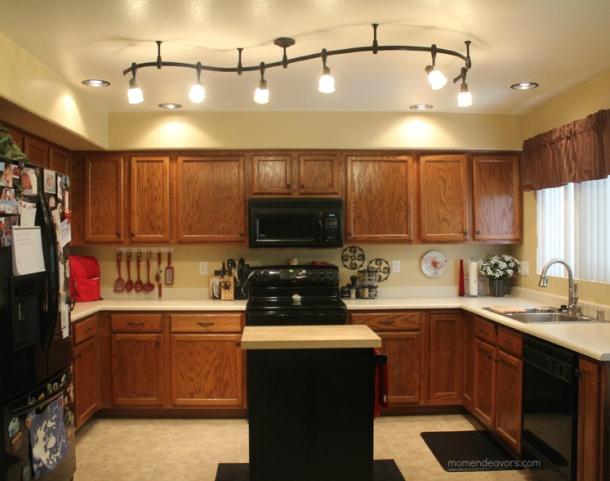 Mini Kitchen Makeover & Lighting Redo#ProudestDIY