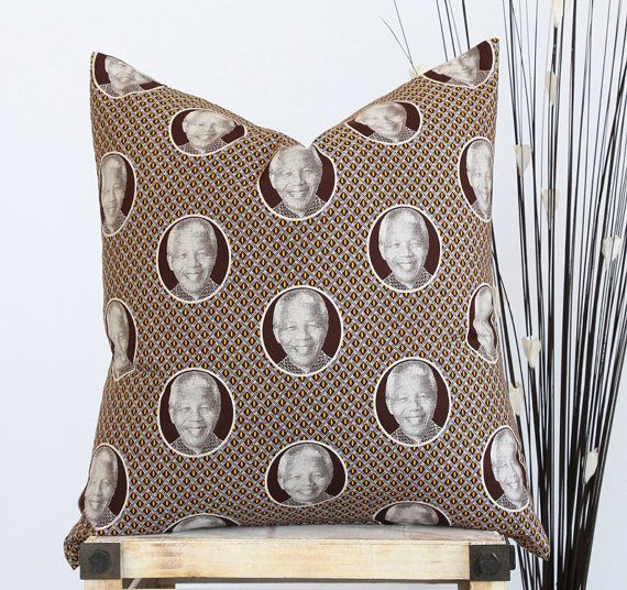 Mandela Pillow Cover  African Home Decor  Accent by africaohafrica