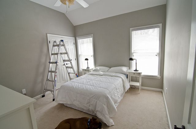 valspar woodlawn colonial gray master bedroom guest bathroom the