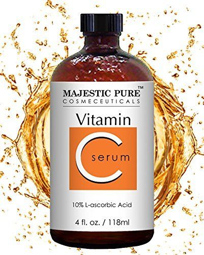 Majestic Pure Vitamin C Serum for Face and Neck with L-accorbic Acid, Sun Damage, Dark Circles Under Eyes, Wrinkles and Skin Brightening Serum Vitamin C Serum for face and neck by Majestic Pure is Potent and best Skin Serum Systems Available Today. It's highest grade Vitamin C serum on The Market containing L-accorbic Acid; Made in the USA With The Highest Quality Ingredients Available; Vitamin c serum does not contain alcohol, parabens or sulfates and is safe for all skin ty