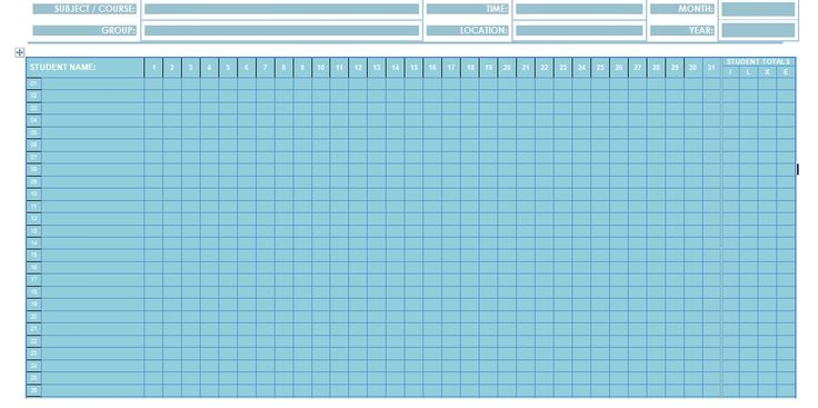 Attendance Sheet Template In Word Format – Microsoft Office Samples and Templates