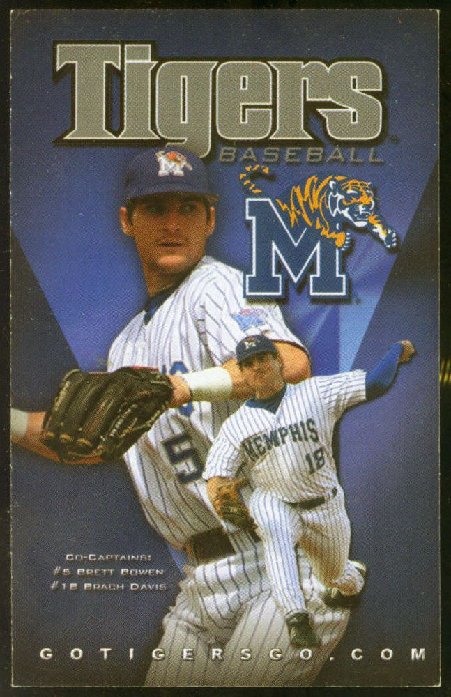 2009 MEMPHIS TIGERS 1ST TENNESSEE BANK BASEBALL POCKET SCHEDULE FREE SHIPPING #Schedule