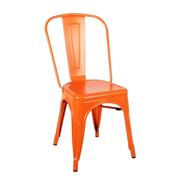 Tolix Chair in matte orange Indoor use only Matte finish