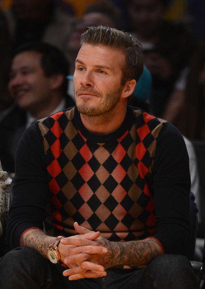 David Beckham Photo - San Antonio Spurs v Los Angeles Lakers