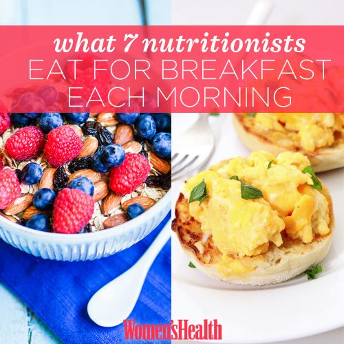 What 7 Nutritionists Eat for Breakfast Each Morning http://www.womenshealthmag.com/nutrition/nutritionist-breakfast