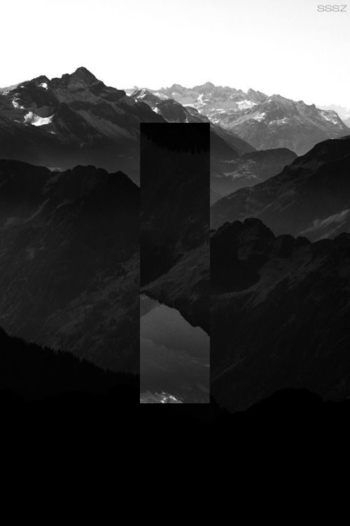 Reverse squares in Nature - Mountain
